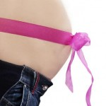 Baby Bauch Schwanger Schleife